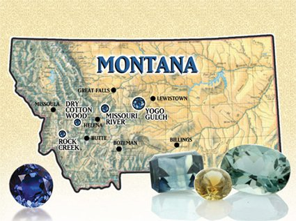Fancy Montana Sapphires are found in three major areas