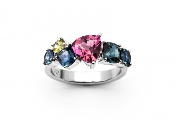 Multi-Color Montana Sapphire Ring