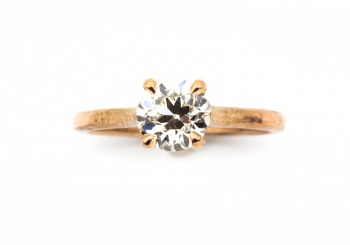 Rose Gold Diamond Solitaire