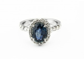 Fancy Sapphire Halo ring