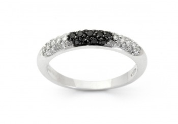18K Black Diamond Band