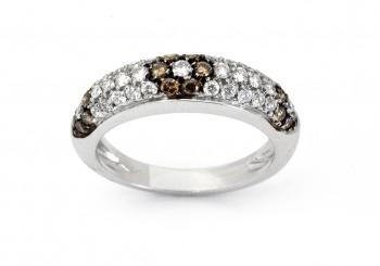 18K Brown Diamond Band