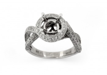 18K Diamond Semi-Mount