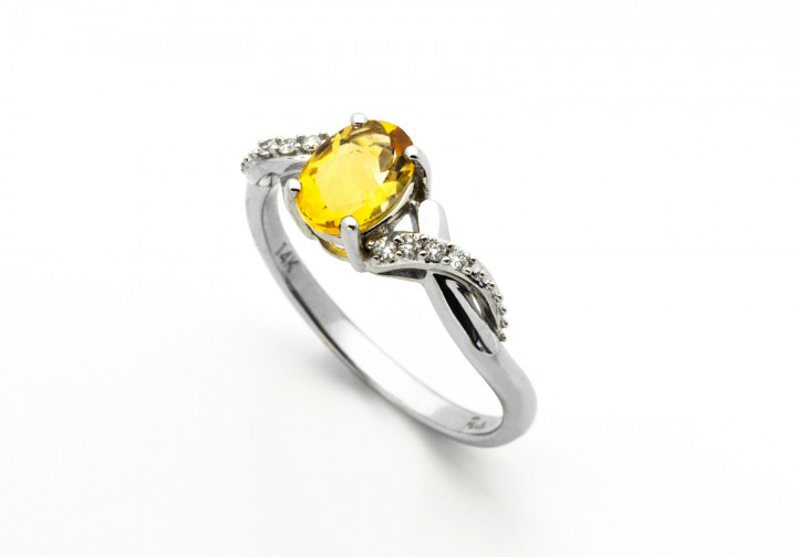 14K Ruby and Diamond Ring14K Citrine and Diamond Ring