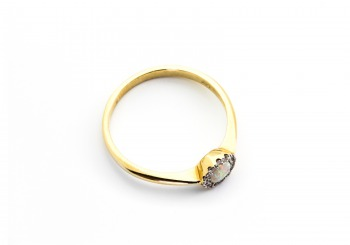14K Opal & Diamond Ring   Bozeman Montana Jewelry   Gem Gallery