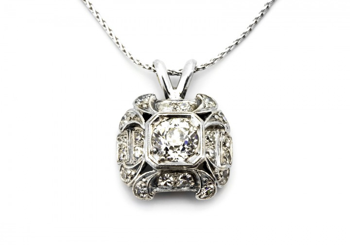 Platinum & Diamond Estate Pendant