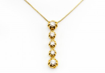 14K Diamond Pendant
