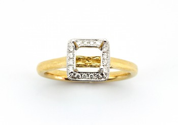 14K Diamond Semi-Mount
