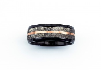 Men's Zirconium & Meteorite Band