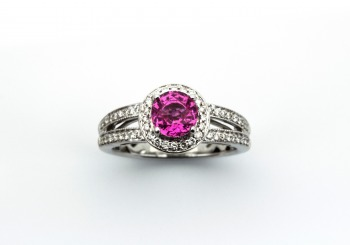 18K Pink Sapphire Ring