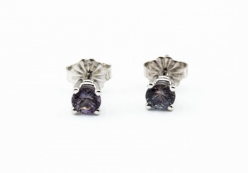 14K Fancy Montana Sapphire Stud Earrings