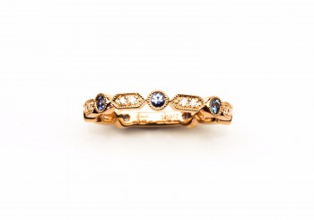 14K Yogo & Diamond Ring