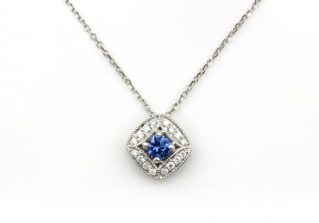 14K Yogo & Diamond Pendant