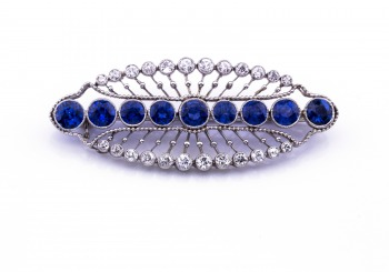 Edwardian Yogo & Diamond Brooch