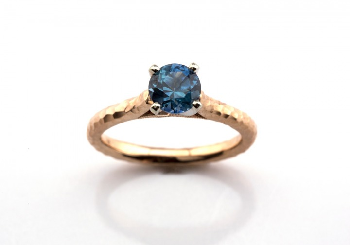 7382cae49a14c8 14K Montana Sapphire Ring   Bozeman Montana Jewelry   Gem Gallery