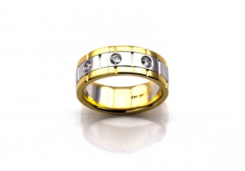 14K Two-Tone Band