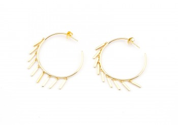 14K Fashion Hoop Earrings