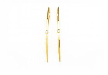 14K Diamond Threader Earrings