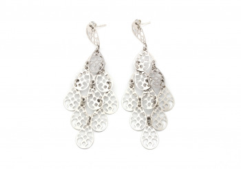 Sterling Silver Chandelier Earrings