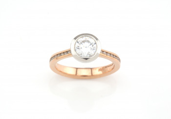 14k Semi-Mount Ring