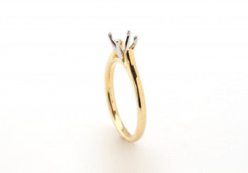 14k Gold Semi-Mount