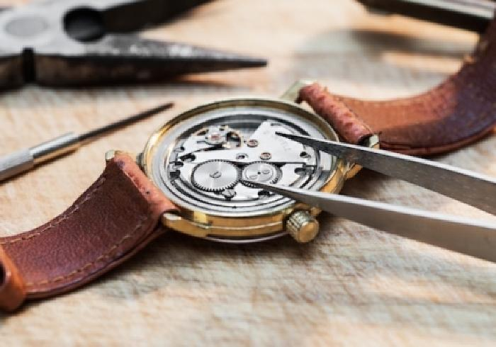 Watch repair services.