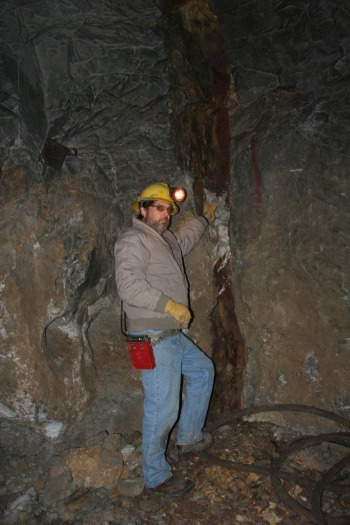 Gem Gallery owner Don Baide 360 feet down into the Vortex Mine