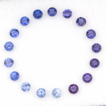 Yogo Sapphires come in a range of colors.